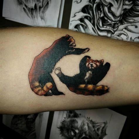 endearing red panda tattoos tattoodo