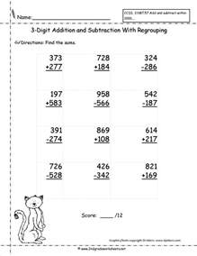 digit subtraction 3 digit addition and subtraction worksheets new calendar template site