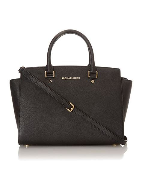 michael kors selma black tote bag house of fraser