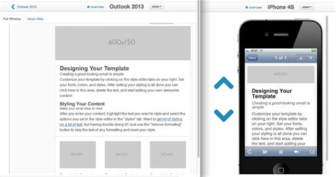 responsive email layouts   template