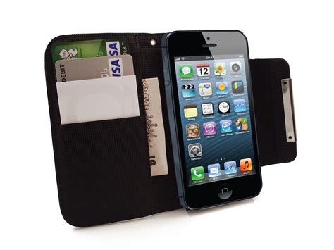 hamdis black wallet phone cover for apple iphone 5
