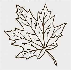 Maple Leaf Cut Out | ... papers above for my kids to color ...
