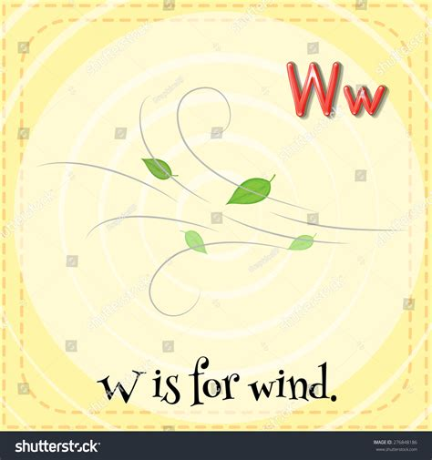letter w is for walk stock vector image 71024801 flashcard letter w is for wind with orange background