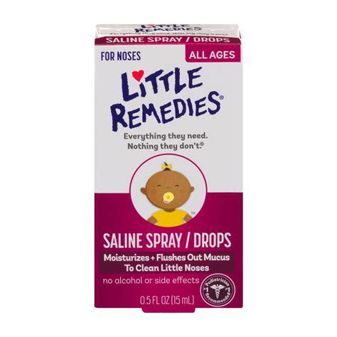 Amazoncom Little Remedies Noses Saline Spraydrops 05