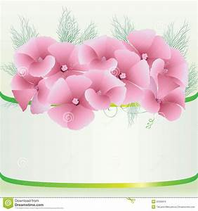 Cute Pink Floral Background Royalty Free Stock Image ...