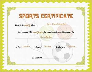 Sports certificate template for ms word download at http for Sport certificate templates for word