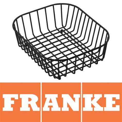 sink baskets and drainers franke compact kitchen sink drainer basket black 112 0050