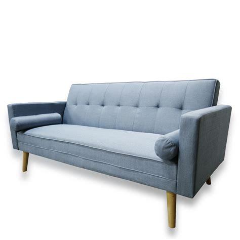 fold down sleeper sofa amy brand new blue or grey fabric click clack sofa bed