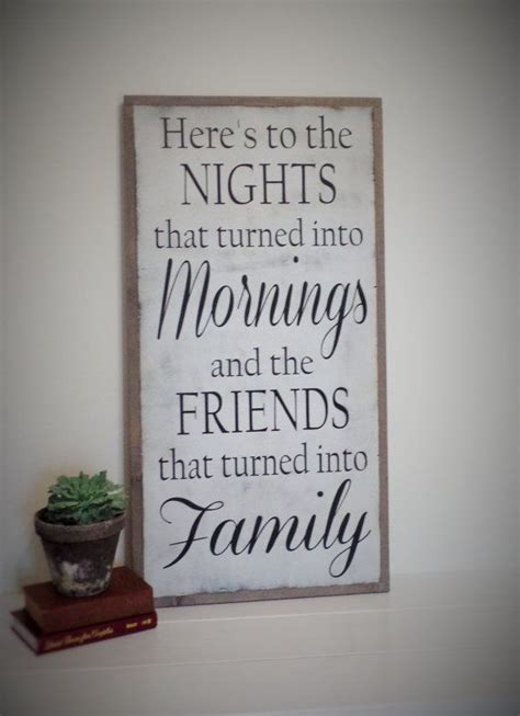 heres   nights  turned  mornings wood sign