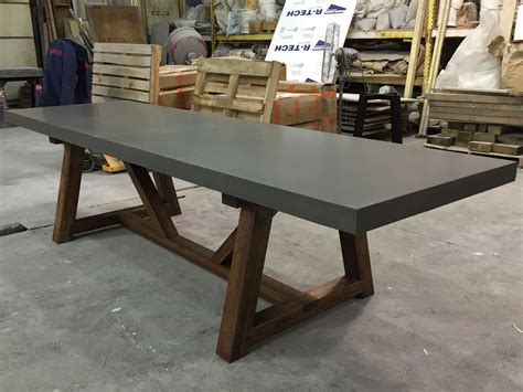 Hand Crafted Concrete Dining Table By 910 Castings