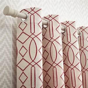 rideau tamisant utah blanc et rouge l140 x h260 cm With rideaux à carreaux rouge et blanc