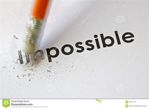 possible impossible word eraser changing pencil success