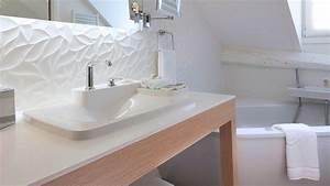 Faience Salle De Bain Blanche : une salle de bain zen et d co de 6m exemple suivre c t maison ~ Melissatoandfro.com Idées de Décoration