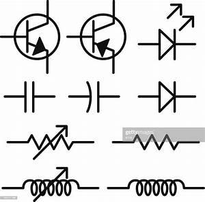 Electronic Circuit Schematic Symbols Vector Art