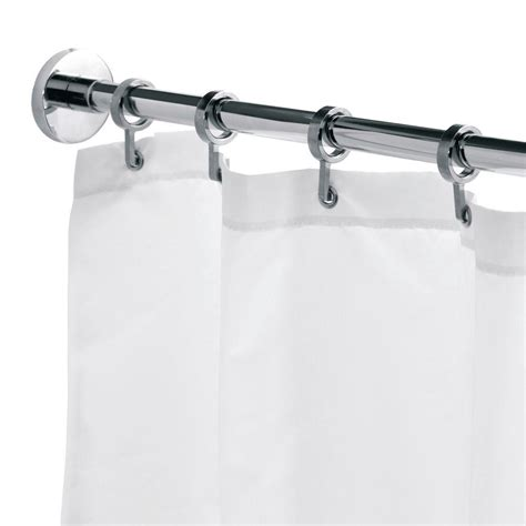 croydex 98 4 in l luxury shower curtain rod with