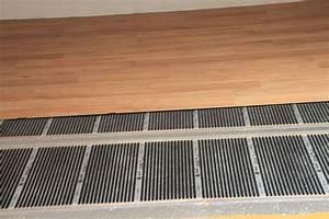 chauffage au sol electrique film carbone chauffant bp With parquet chauffage au sol