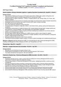 business process consultant resume sap logistics execution consultant cv