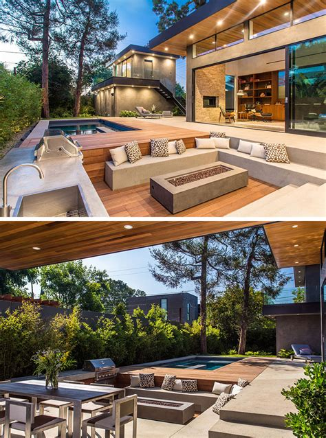 built in outdoor pit 15 outdoor conversation pits built for entertaining contemporist