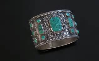 Antique Chinese Turquoise Silver Bracelet