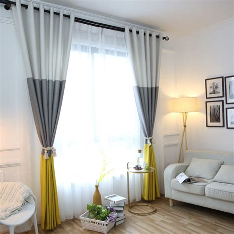 colors striped blackout curtains   bedroom cotton
