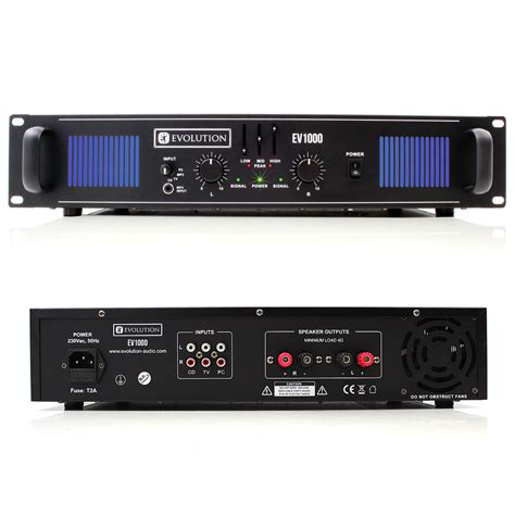 evolution audio ev1000 power lifier