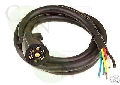 Bargman Way Molded Foot Trailer Wire Light Plug Cord