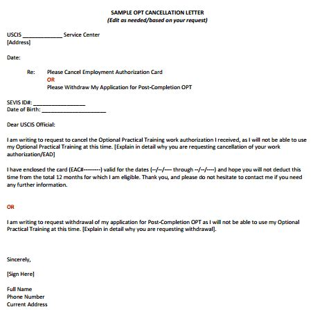 sample cancellation letters writing letters formats