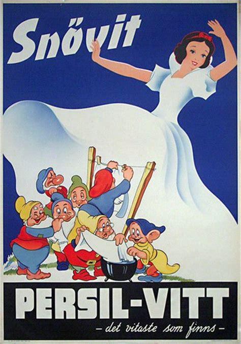 original vintage poster persil snow white vintage