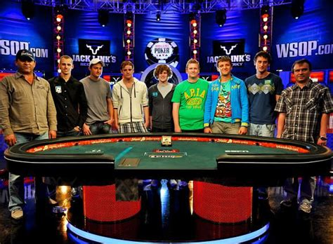 world series of poker final table final table set at 2011 world series of poker main event