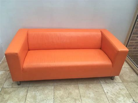 Orange Leather Loveseat by Orange Leather Ikea Klippan Sofa In Lewes East Sussex