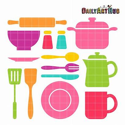 Kitchen Stuff Clip Objects Clipart Things Dailyarthub