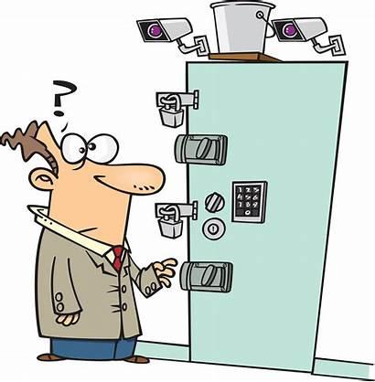 Door Clipart Locked Security Clip Lock Cartoon