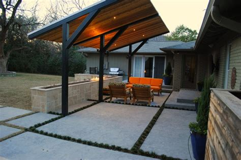modern patio cover dallas ranch style modern patio other metro by landpatterns inc