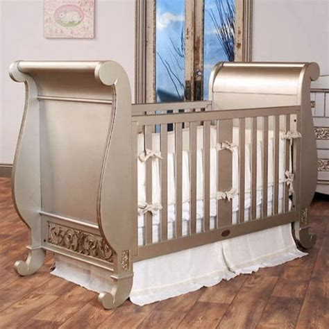 Bratt Decor Crib Satin White by Bratt Decor Chelsea Crib In Antique Silver Ch01 Sil