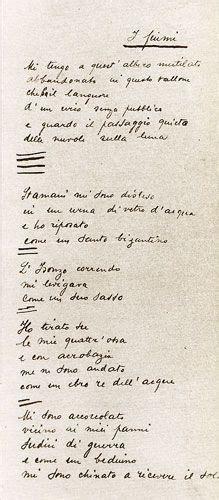 Poesia M Illumino D Immenso Testo by Manoscritti Poesie Ungaretti Prima Stesura M Illumino D