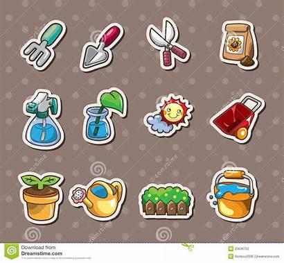 Stickers Gardening Illustration Vector Dreamstime