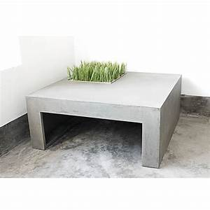 Table Basse En Beton : table basse en b ton carr e green drawer ~ Farleysfitness.com Idées de Décoration