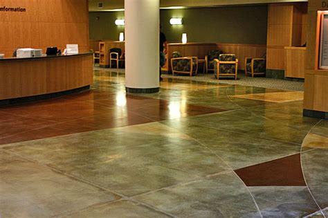adding color  polished concrete floors concrete decor