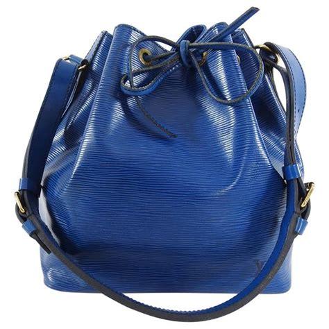 louis vuitton vintage  blue epi petite noe pm bag