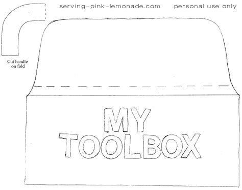 template tool 8 best images of tool box printable template tool belt coloring page tool box card templates