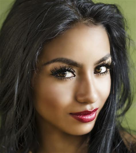olive colored skin actresses with black hair and brown image of