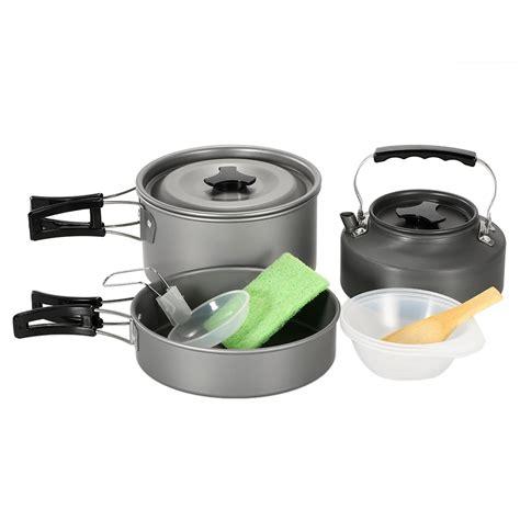 cookware camp cooking pot pan camping lightweight backpacking walmart bowl hiking outdoor sets teapot kettle picnic kit