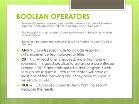 sourcing using boolean search and other tips 2014