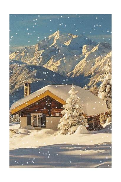 Winter Cabin Switzerland Alps Mooie Snow Afkomstig