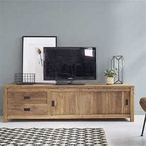 Meuble Tv 180 : meuble tv en bois de teck recycl 180 cargo bois dessus bois dessous ~ Teatrodelosmanantiales.com Idées de Décoration