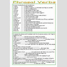 Phrasal Verbs  Esl Worksheet By Luoliveira
