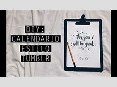 DIY Calendário estilo tumblr YouTube