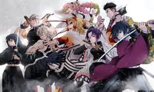 demon slayer kimetsu  yaiba team wallpaper hd anime