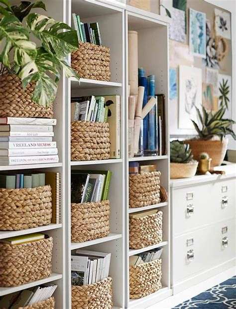 Baskets For Billy Bookcases by Baskets For Books In Built Ins Ladder Shelves Great