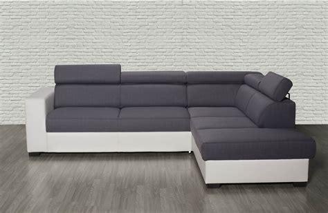 canapé d angle carré canapé d 39 angle droit auxane convertible avec têtières gris